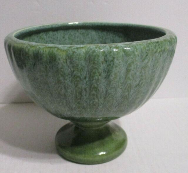 Vintage Haegar Drip Glazed Ceramic Pedestal Vase Candle Holder 5