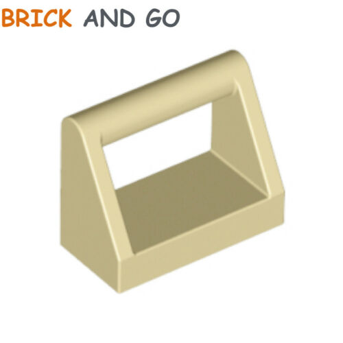 Piatto Mattonelle 1x2 Handle NEW beige tan 6 x LEGO 2432 Piastra Maniglia