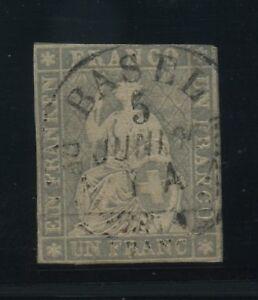 SCHWEIZ-1854-Nr-18IIAys-gestempelt-106834