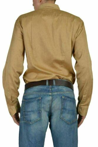 Etro Men's Brown Long Sleeve Button Down Casual Shirt Size US 2XL IT 56