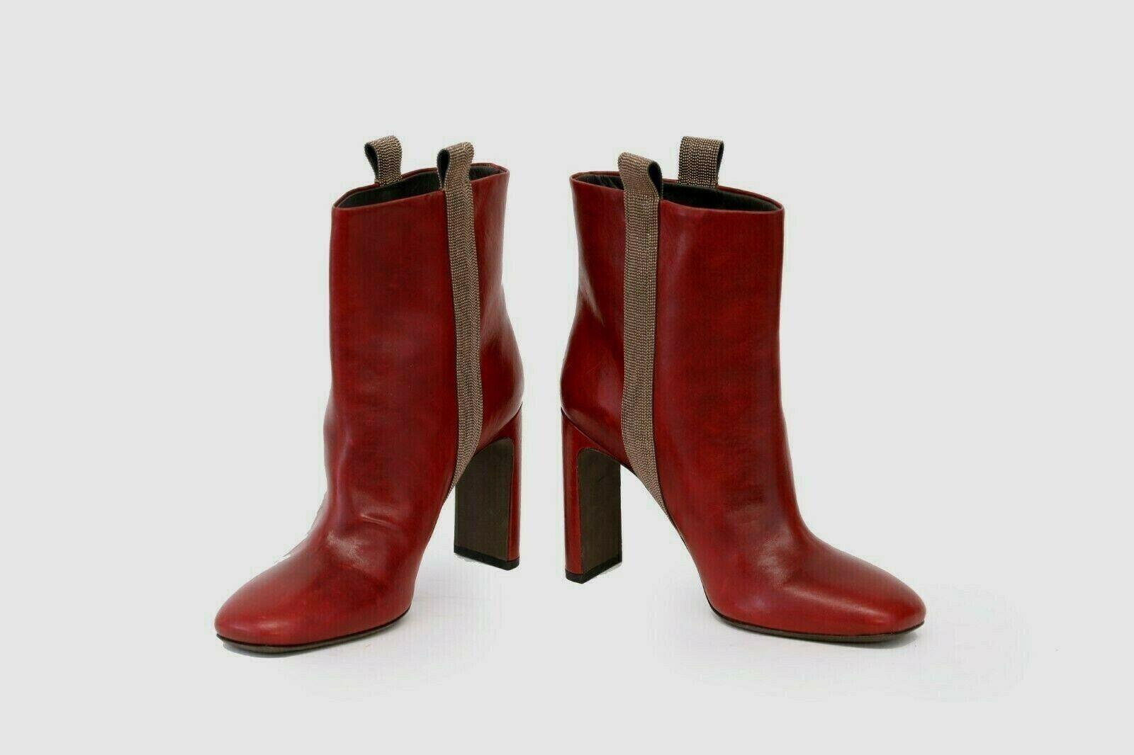 negozio outlet NWOB 1995 Brunello Cucinelli 100% Leather Sparkly Beaded avvioies avvioies avvioies Sz 37  7US A191  con il prezzo economico per ottenere la migliore marca