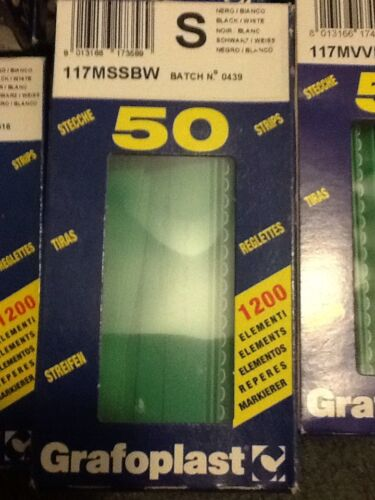 """Grafoplast 117MSSBW LETTER /""""S/"""" 50 Strips NEW IN BOX Wire Markers"""