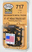 Kadee Hon3 Scale 717 Arch Bar Type Metal Trucks Kit - (4'6 Wheel Base)