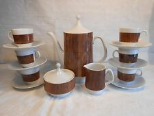 Schumann Arzberg Germany 17 Piece Demi Tasse Set Serving Pot Cream Sugar 6 Cups