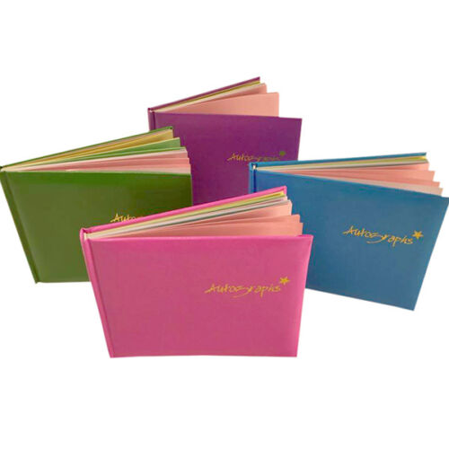 Notebook School Leaving Celebrity Premiere Autograph Book with Coloured Pages