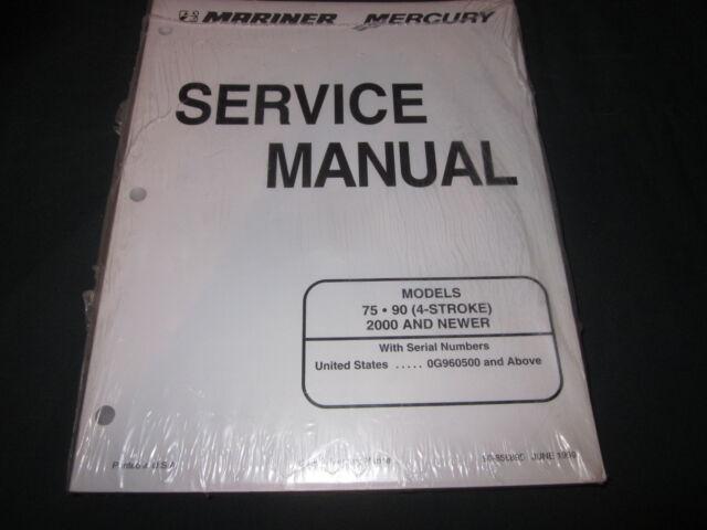 mercury mariner 75 hp outboard manual