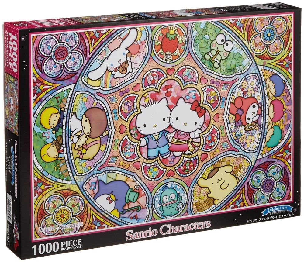 Hello Kitty Jigsaw Sanrio Sanrio stained glass Musical 1000 piece