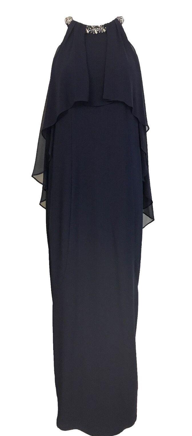 Ex Coast Saraphina Column Maxi Me Dress Navy RRP  Size 6 - 16