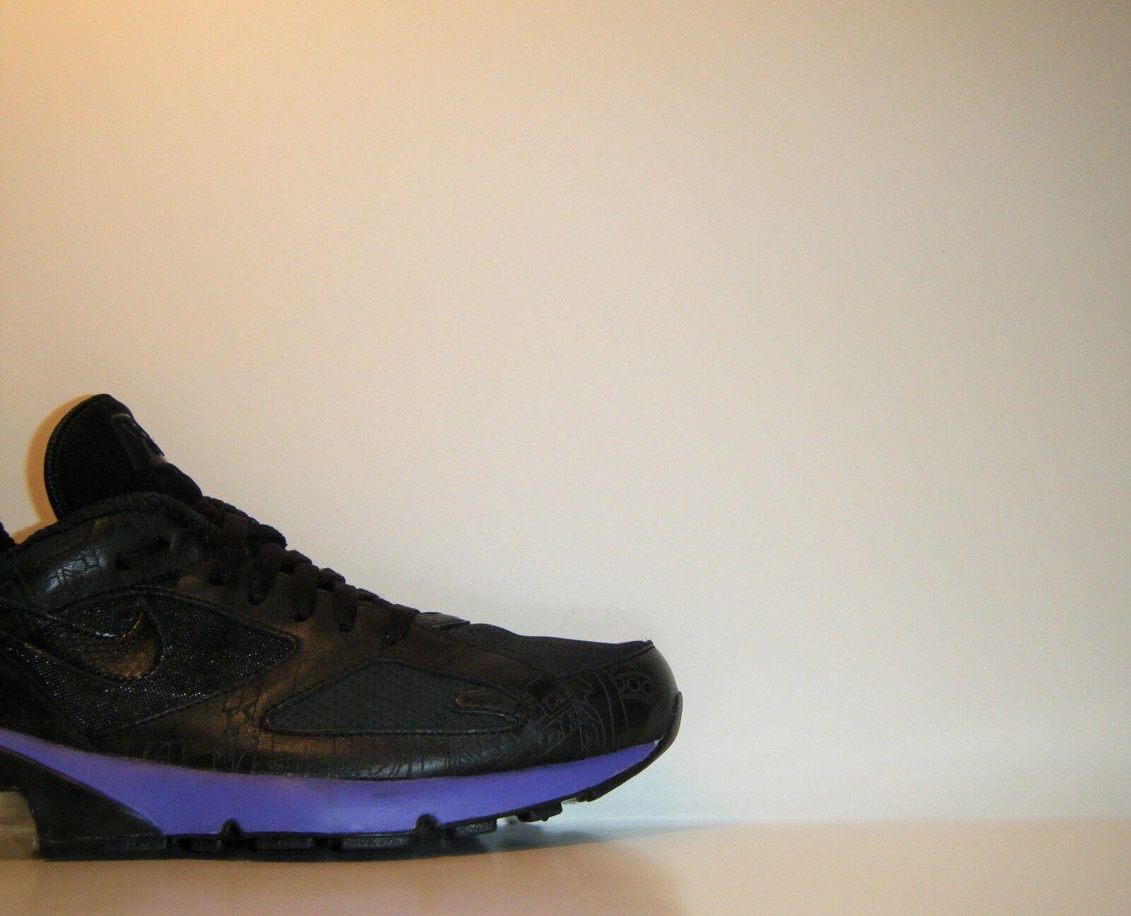 2005 Nike Air Max 180 Powerwall Black Purple 9.5 CDG Cowboy Opium 314200-002 1