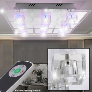 RGB LED Decken Panel Lampe dimmbar Fernbedienung Gäste Zimmer Beleuchtung weiß
