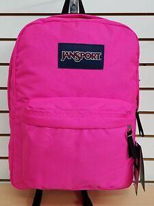 Jansport-SUPERBREAK-Backpack-Ultra-Pink-NEW-for-2018