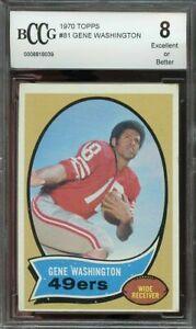 1970-topps-81-GENE-WASHINGTON-san-francisco-49ers-rookie-card-BGS-BCCG-8