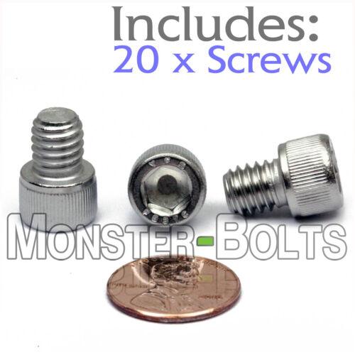 "Qty 20 Stainless Steel SOCKET HEAD Cap Screws 18-8 // A2-70 5//16-18 x 3//8/"""