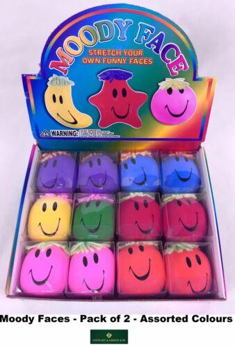 2 x Moody Squeeze face-différentes couleurs NOUVEAU LIVRAISON GRATUITE Twin Pack