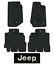 2011-2018-Jeep-Wrangler-Floor-Mats-4pc-JK-Cutpile-Fits-Unlimited miniature 1