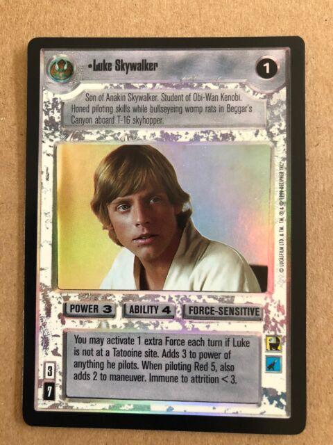 Star Wars CCG Reflections I 1 Complete Foil Set Luke Skywalker Darth Vader URF