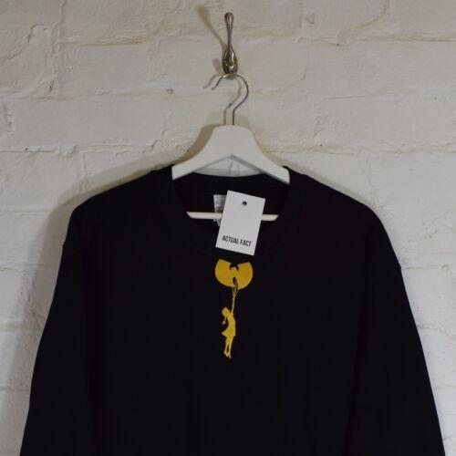 Wu x Banksy Girl Embroidered Black Street Art Hip Hop Sweatshirt Top by AF