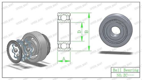 1PCS 6807ZZ Deep Groove Metal Double Shielded Ball Bearing 35mm*47mm*7mm