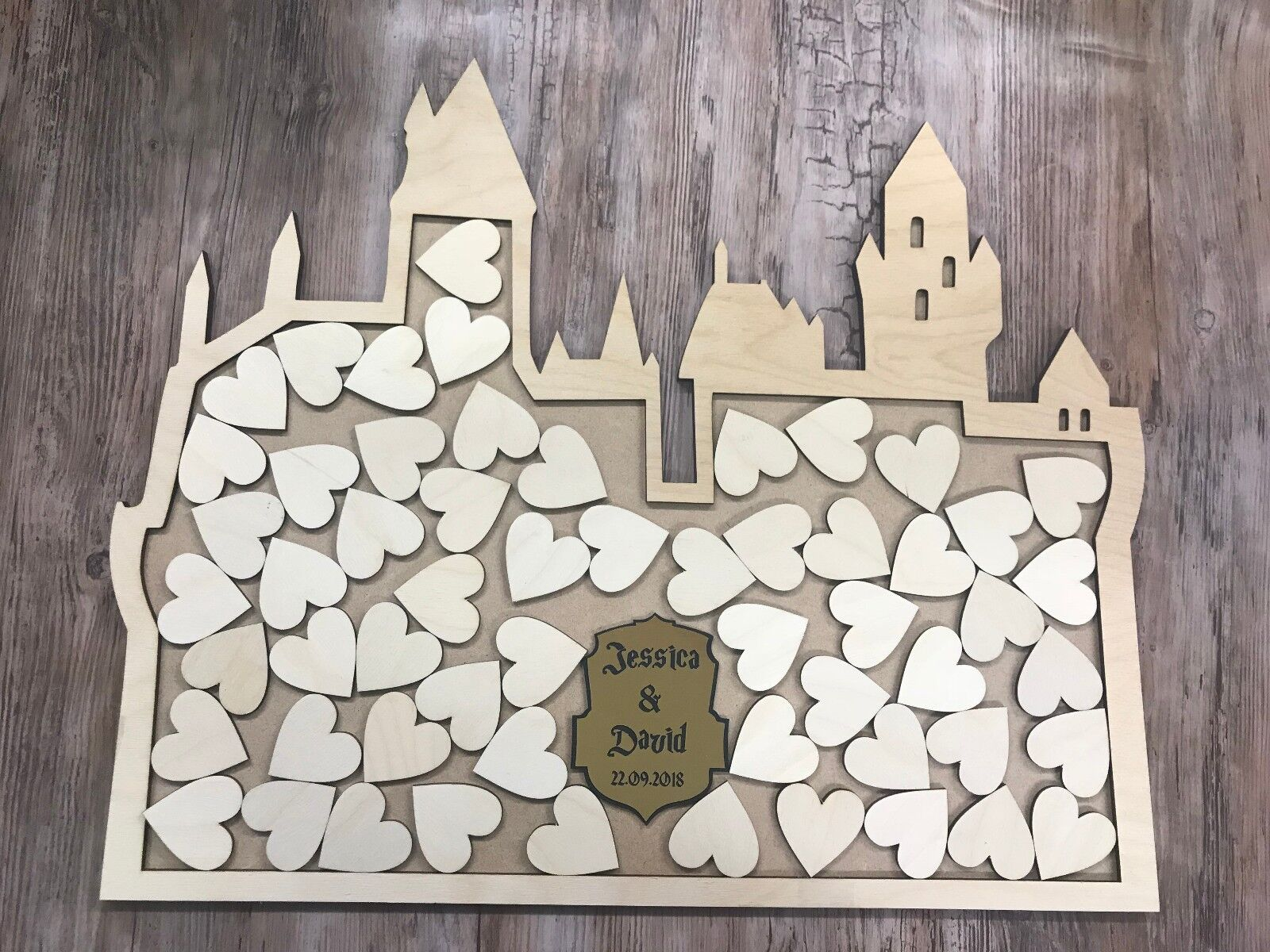 Harry Potter Inspirouge Hogwarts Castle mariage drop box alternative guest book