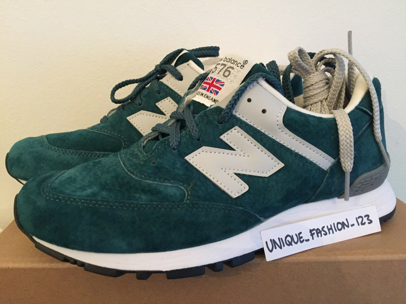 NEW Balance 576 PTG US England 9.5 7 Made in England US color foglia di tè verde bianco W576PTG 557a39