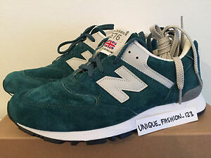 NEW Balance 576 PTG US 9.5 7 UK 6.5 40 Made in England color foglia di t verde bianco W576PTG