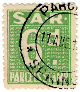 I-B-South-Africa-Railways-Parcel-Stamp-6d