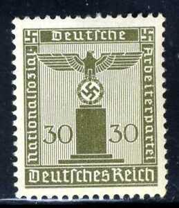 1938-42-Germany-Nazi-SCF1-1-STAMP-Third-Reich-Hitler-Swastika-Deutsch-WWII-MLHOG