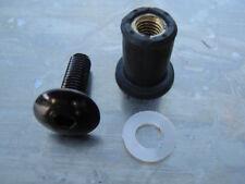 Screen Bolt Kit, black anodised alu, 4 bolts, for KTM Super Duke 990 LC8 & R LC8