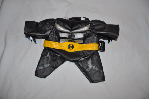 Build a Bear Black//Sliver//Yellow Belt Batman Suit and Mask /'The Dark Knight/'