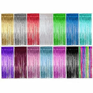Shimmer-Foil-Door-Curtain-curtains-Decoration-Party-Supplies-Choose-colour