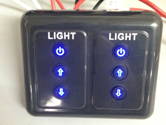BRAND NEW EXCLUSIVE RV LED DIMMER SWITCH DUAL CHANNEL FOR LED LIGHTING/ LIGHTS