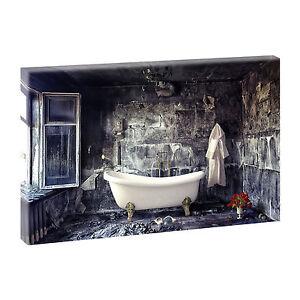 Wandbild Keilrahmen Bild auf Leinwand Badezimmer Poster 65 cm 100 cm ...