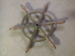 Maritime Rare Old Perko Ships Steering Wheel Wood&brass~antique Nautical Maritime Boat A1 2019 Latest Style Online Sale 50% Maritime Wheels