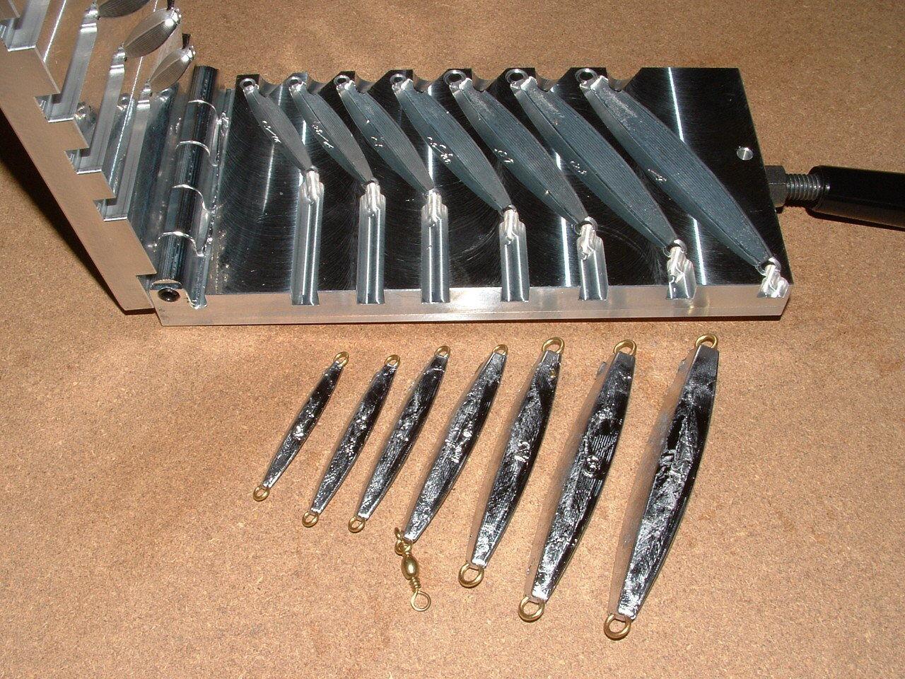 Saltwater D Jig mold 1 2,3 4,1,1.5,2,3,4oz CNC Aluminum Diamond