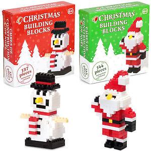Natale-Building-Blocks-giocattolo-KIT-Babbo-Natale-o-pupazzo-di-neve-Regalo-Boy-Girl-calza-Filler