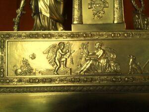 Enorme-horloge-cartel-pendule-empire-restauration-de-collection-en-bronze
