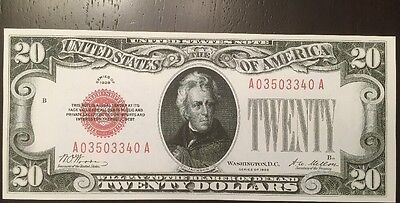 Louis Federal Reserve Note Bill Currency $20 1928 Twenty Dollar St