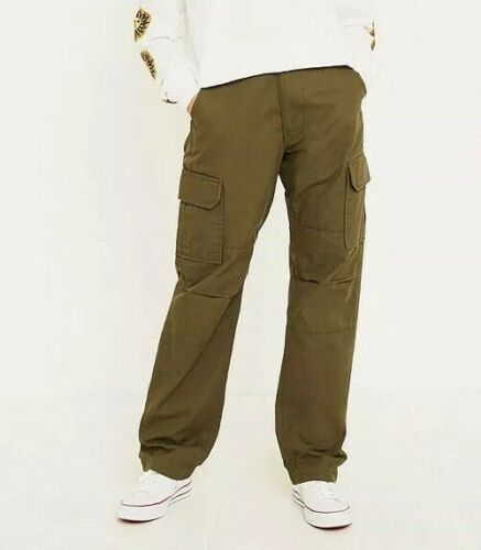 DICKIES OLIVE RIPSTOP CARGO PANTS W28 28 28S 30 green womens trousers chino army