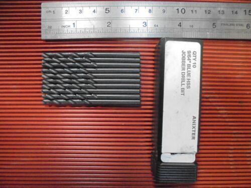 """10 New 9//64/"""" Blue HSS Jobber Drills"""