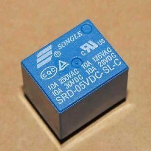 10-Stk-Mini-Power-Relay-5V-DC-SRD-5VDC-SL-C-SRD-5VDC-SL-C-PCB-Neu-W4I9