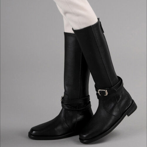 Dollmore shoes Glamor Model Duke Riding Boots Black Outside length 11.8cm