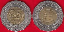 """Croatia 25 kuna 1997 """"Esperanto Congress"""" BiMetallic"""