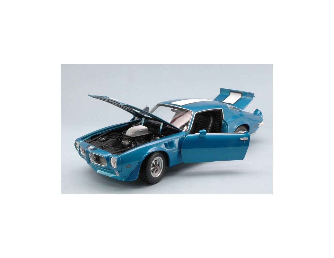 Welly WE2566BL PONTIAC FIREBIRD TRANS AM 1972 azul W blancoo STRIPES 1 18 Modellin