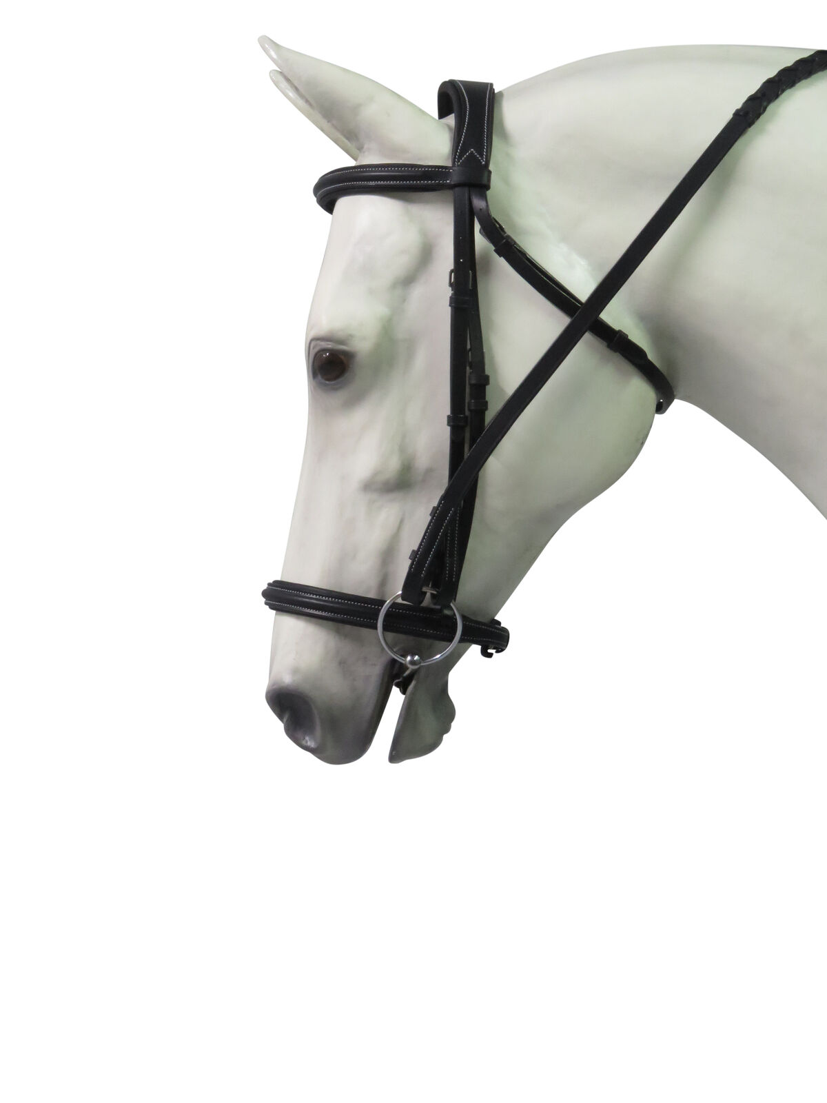 Henri de Rivel Pro Mono Crown Padded Bridle with Laced Reins