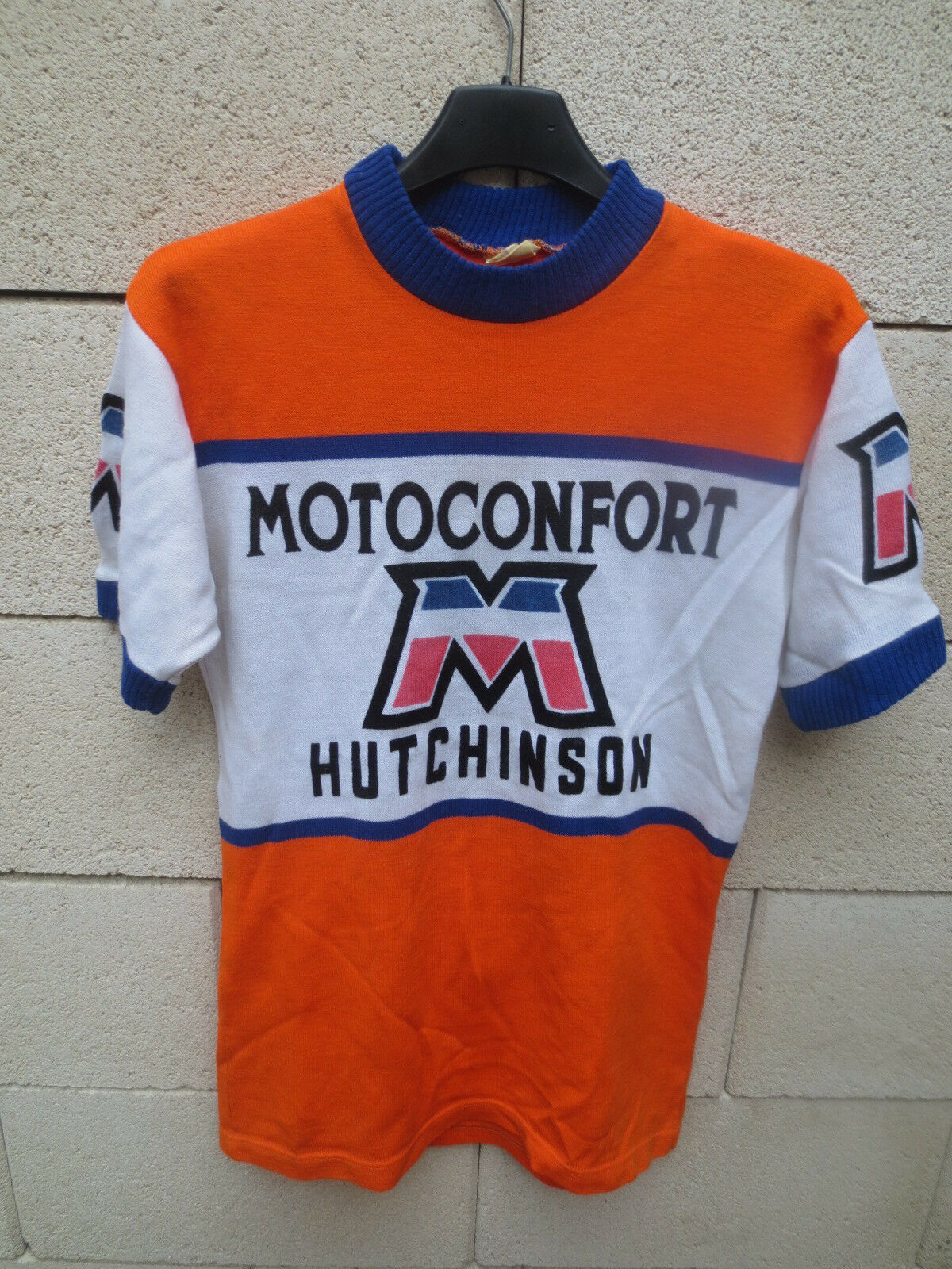 Maillot cyclist motoconfort hut nson years 70 jersey shirt  vintage leotard s  lowest prices