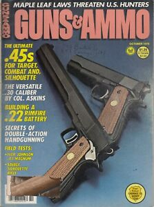 Vintage-Magazine-GUNS-amp-AMMO-October-1978-45-ACP-PISTOL-Savage-44-Magnum