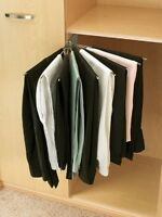 Rev-a-shelf Closet Accessories Fan Pants Rack Right Or Left Handed Hold 9 Pair
