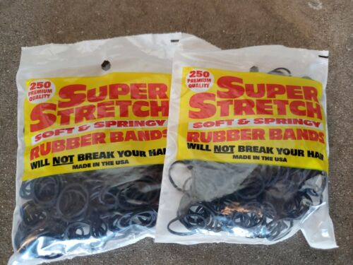 Black 500 count Super Stretch Rubber Bands