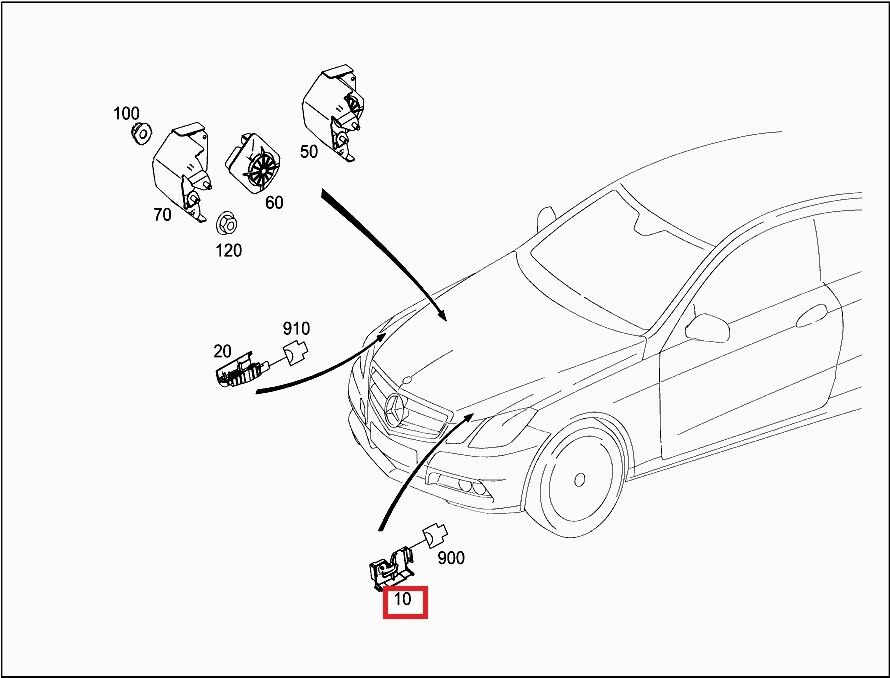 Mercedes Benz Alarm Warning Switch A 204 870 44 58 For Sale Online