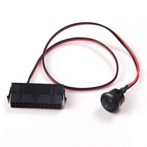 24-Pin Female ATX PSU Power Supply Starter Switch PSU Jumper ON//OFF Switch